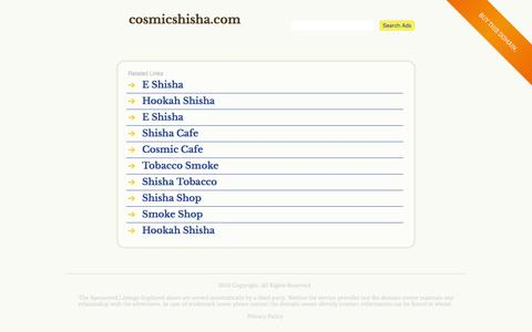 cosmicshisha.com