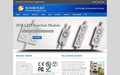 Screenshot of Site Map Page sunroled.com - SMD LED Modules, LED Strip, pixel LED Factory--SUNROLED - captured Sept. 19, 2014