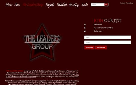 Screenshot of Services Page theleaders.eu - Services - THE LEADERS RECORDS HEAVY METAL ROCK MUSIC BAND PROMOTION MANAGEMENT - captured Oct. 26, 2014