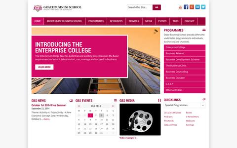 Screenshot of Home Page Site Map Page gbs.ng - Home - Grace Business School - captured Oct. 3, 2014