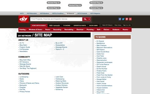 Screenshot of Site Map Page diynetwork.com - Site Map : About Us : DIY Network - captured Oct. 29, 2014