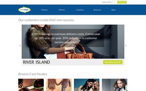 Screenshot of Case Studies Page metapack.com - MetaPack customers and their success stories - captured Nov. 18, 2016