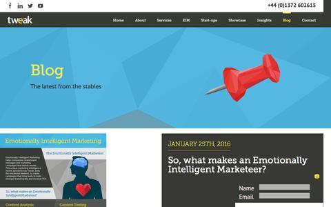 Screenshot of Blog tweakuk.com - Blog - Tweak Marketing - captured Feb. 16, 2016