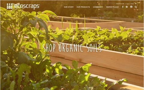 Screenshot of Home Page About Page Privacy Page ecoscraps.com - EcoScraps - Grow Gardens, Not Landfills - captured July 3, 2015