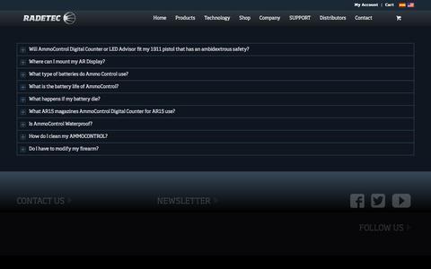 Screenshot of FAQ Page radetec.com - FAQ Radetec - captured Dec. 19, 2016