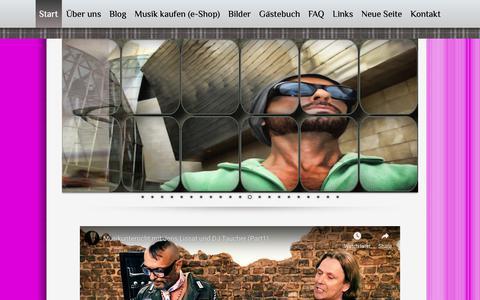 Screenshot of Home Page djtaucher.de - Start - djtaucher.de - captured Oct. 27, 2018