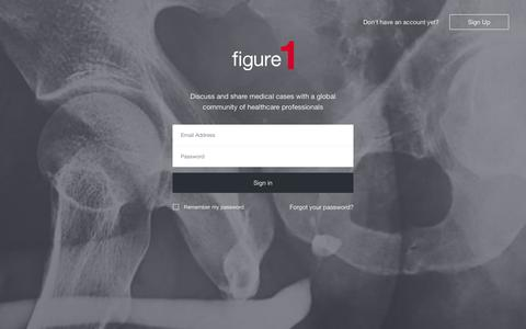 Screenshot of Login Page figure1.com - Figure 1 - captured Nov. 18, 2015