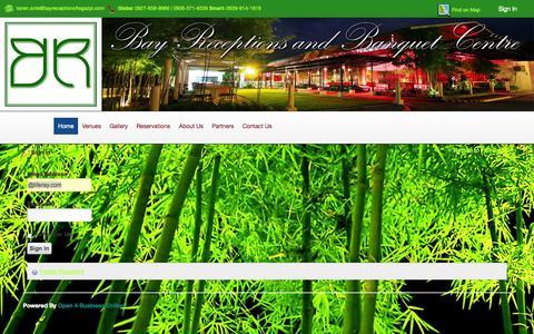 Screenshot of Login Page bayreceptionoflegazpi.com - bayreceptionoflegazpi.com - Bay Reception and Banquet Center - captured Oct. 5, 2014