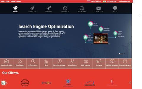 Screenshot of Home Page zeengal.com - web design india, web development in india, web application development, web design companies - captured Aug. 9, 2015