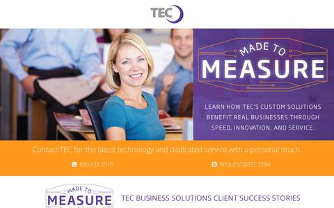 Screenshot of Testimonials Page tec.com - Clients Success Stories and Testimonials with TEC | TEC Business Customer Testimonial - captured Nov. 3, 2017
