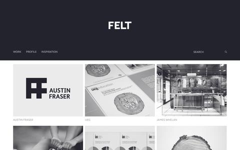 Screenshot of Home Page feltbranding.com - Felt Branding deliver brand strategy, intelligent and creative design, across a diverse range of clients and projects. - captured Jan. 24, 2015