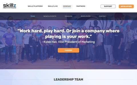 Screenshot of Team Page skillz.com - Team - Skillz - captured March 15, 2017