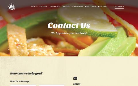 Screenshot of Contact Page lapencaazul.com - Contact - captured Oct. 19, 2016