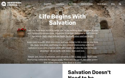 Life Begins With Salvation | NewSpring Church