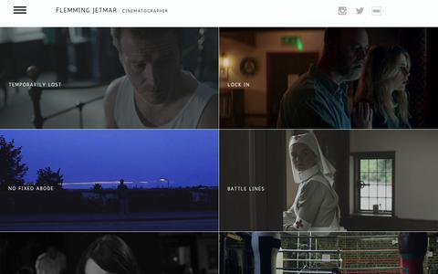 Screenshot of Home Page flemmingjetmar.com - Flemming Jetmar Cinematographer - captured Oct. 22, 2018