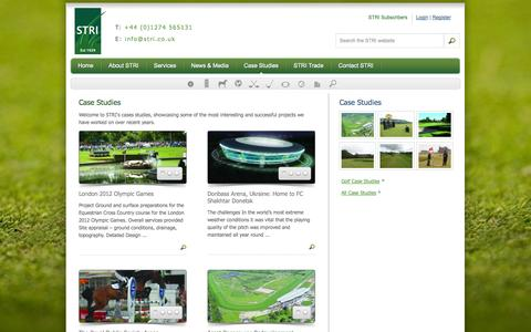 Screenshot of Case Studies Page stri.co.uk - Case Studies | STRI - captured Oct. 3, 2014