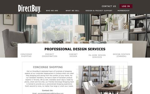 Screenshot of Services Page directbuy.com - DirectBuy | Design & Project Services - captured April 22, 2017