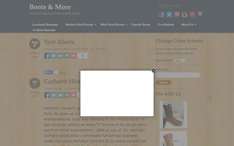 Screenshot of Blog bootsandmore.net - Boots & More - captured Oct. 3, 2015