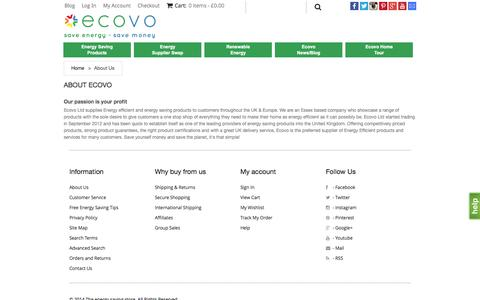 Screenshot of About Page ecovo.co - About Us - captured Oct. 2, 2014