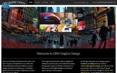 Screenshot of Home Page cbwgraphicdesign.com - Custom Design Services at CBW Graphic Design - captured July 8, 2018