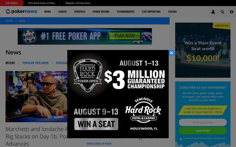 Screenshot of Press Page pokernews.com - Latest Poker News from all around the World | PokerNews - captured June 1, 2019