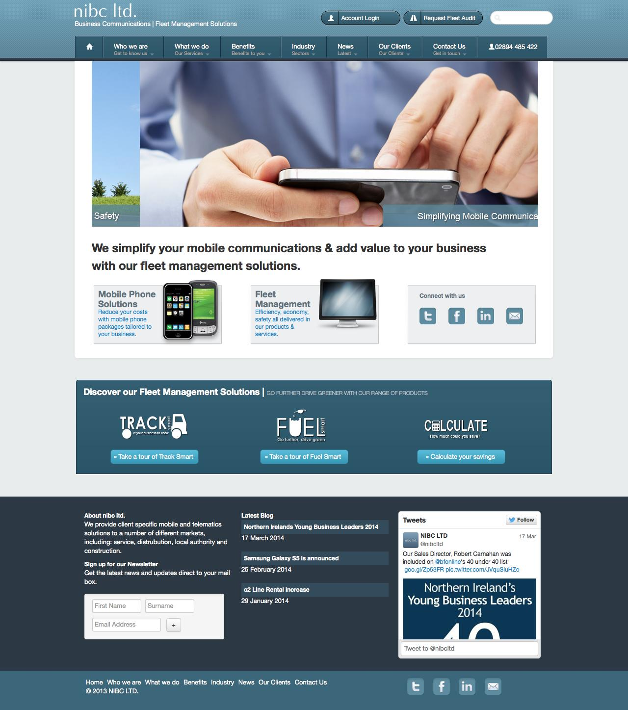 Web Design Example | A page on nibc co uk | Crayon