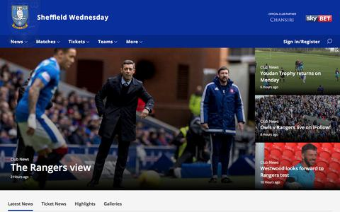Screenshot of Home Page swfc.co.uk - Sheffield Wednesday - captured July 28, 2017