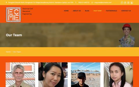Screenshot of Team Page ecmelao.com - Our Team – ECMELAO - captured Sept. 25, 2018