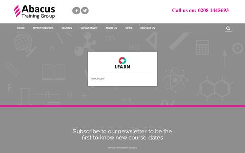 Screenshot of Login Page abacustraininggroup.co.uk - Login - Abacus - captured Feb. 5, 2016