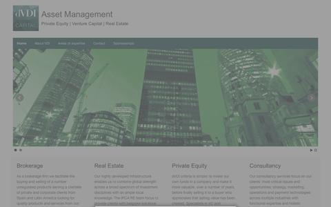 Screenshot of Home Page vdicapital.com - Asset Management | Private Equity  |  Venture Capital  |  Real Estate - captured Feb. 17, 2016