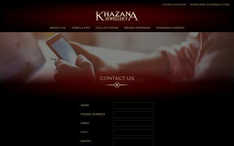 Screenshot of Contact Page FAQ Page khazanajewellery.com - Contact Us   Indian Jewellery Store   Bridal Jewellery India   Khazana Jewellery - captured Oct. 17, 2017