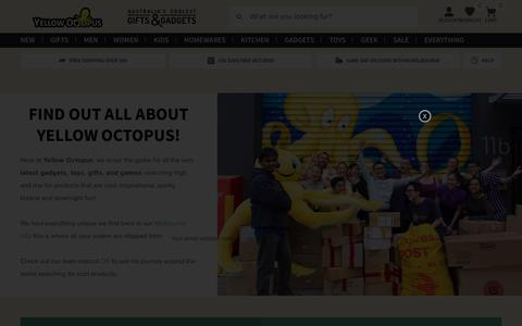 Screenshot of About Page yellowoctopus.com.au - About Us - Yellow Octopus - captured Sept. 22, 2018
