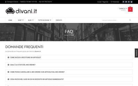 Screenshot of FAQ Page divani.it - Divani da conoscere, scegliere, acquistare   Divani.it - captured Nov. 23, 2016