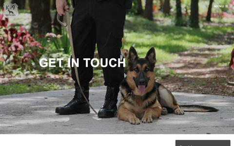 Screenshot of Contact Page k9officers.org - Contact - K9 Officers - captured Sept. 20, 2018