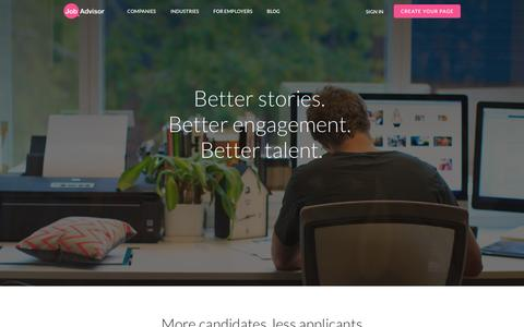 Screenshot of Pricing Page jobadvisor.com.au - Build a Trusted Employer Brand | JobAdvisor - captured Sept. 23, 2014