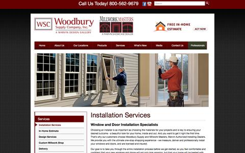 Screenshot of Services Page woodburysupply.com - Woodbury Supply | Installation Services, Oxford, CT - captured June 11, 2017