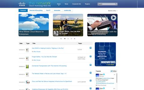 Screenshot of Press Page cisco.com - Cisco Newsroom | The Network - captured Sept. 10, 2014