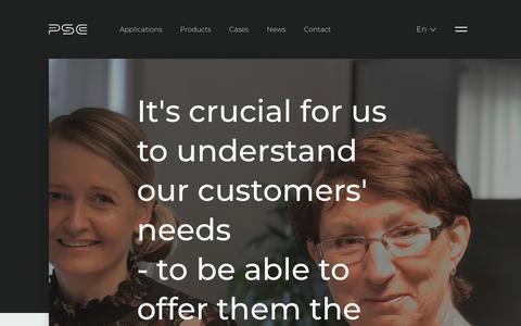 Screenshot of Support Page psc.dk - Customer service - captured Sept. 26, 2018