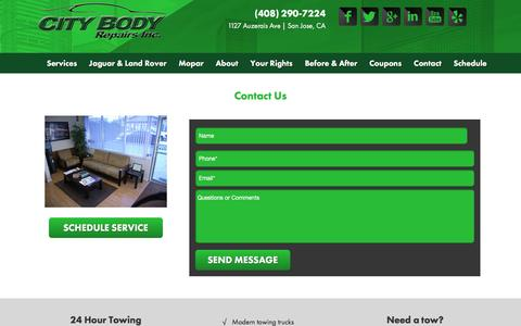 Screenshot of Contact Page citybodyrepairs.com - Contact - City Body Repairs - captured Dec. 9, 2015