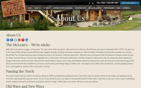 Screenshot of Testimonials Page tsylos.com - About US | Tsylos Park Lodge - captured Oct. 18, 2018