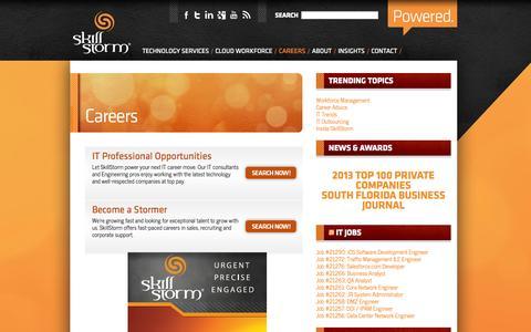 Screenshot of Jobs Page skillstorm.com - SkillStormCareers » SkillStorm - captured Sept. 30, 2014