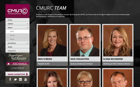 Screenshot of Team Page cmurc.com -   CMURC - captured Oct. 2, 2014