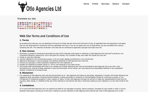 Screenshot of Privacy Page otloagencies.com - Privacy - Otlo agencies - captured Oct. 26, 2014