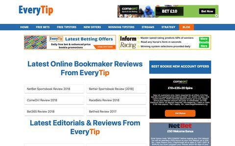 Screenshot of Blog everytip.co.uk - Latest Editorials & Reviews From EveryTip   Everytip.co.uk - captured Oct. 19, 2018