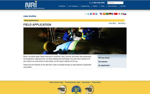 Screenshot of Case Studies Page neptuneresearch.com - Case studies - captured Nov. 3, 2014