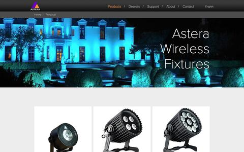 Screenshot of Products Page astera-led.com - Astera LED Technology - Wireless LED Solutions for Event and Architectural Lighting - Wireless LED Lights - captured Feb. 6, 2016