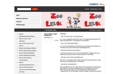Screenshot of FAQ Page zooleuk.nl - Veel gestelde vragen - http://www.zooleuk.nl/ - captured Oct. 18, 2018
