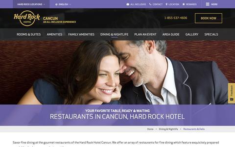 Restaurants in Cancun | Hard Rock Hotel Cancun