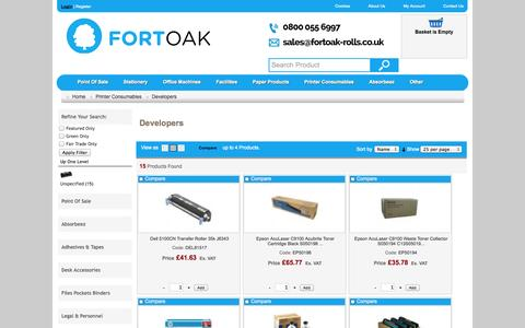 Screenshot of Developers Page fortoak.co.uk - Developers - captured Oct. 6, 2014