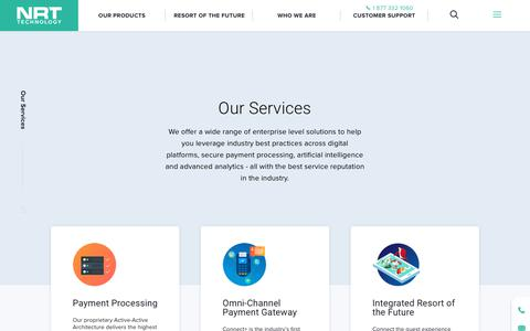 Screenshot of Services Page nrttech.com - Our services - NRT Tech : NRT Tech - captured Dec. 11, 2018